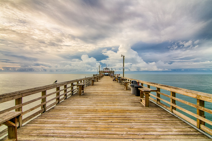 7. This dramatic sky makes the Cherry Grove Pier an interesting setting for a movie scene.