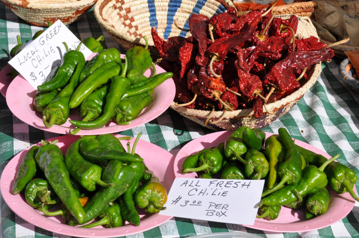 """3. We're the first state to have an official question: """"Red or green?"""" In other words, what's your chile preference?"""
