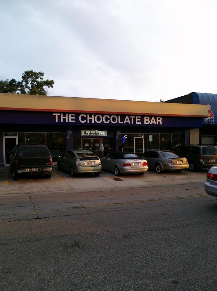 7. The Chocolate Bar (Houston)
