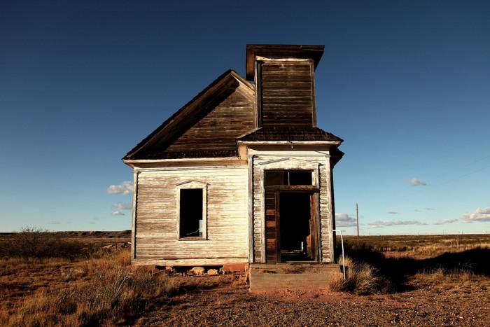 7. A neglected church, near Melrose.