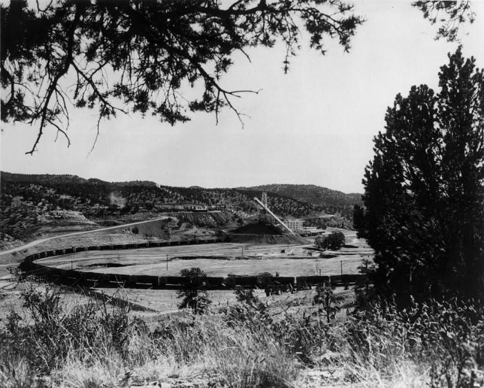 2. A coal train leaving the York Canyon mine, near Raton.