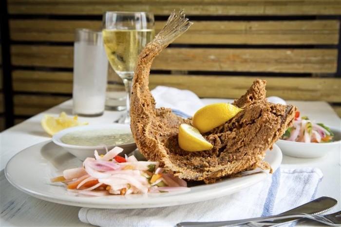 coast bar and grill crispy whole fried flounder