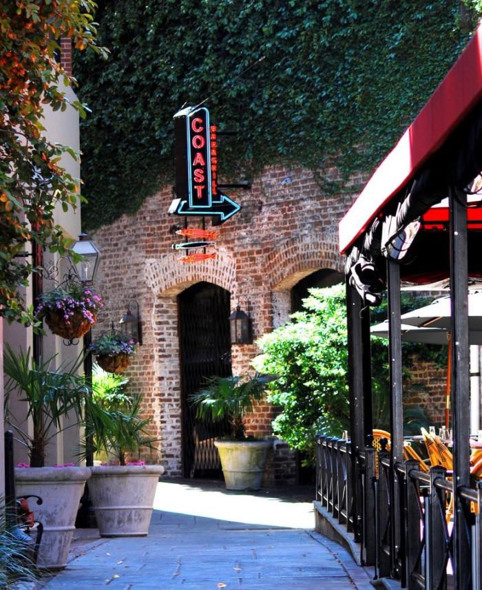 1. Coast Bar and Grill - 39 John Street, Charleston, SC 29403
