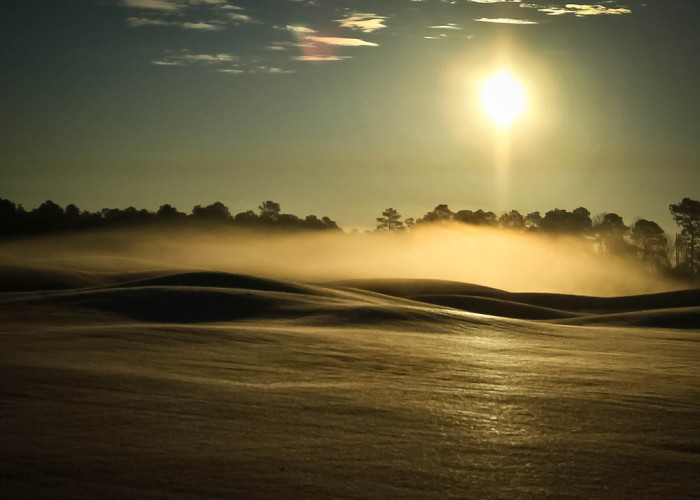 18. A cold morning on a Myrtle Beach Golf Course.