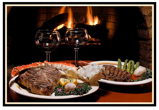 4. Whisper sweet nothings over some juicy steaks.