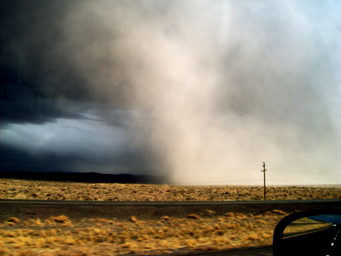 11. A dust storm kicks up near Las Cruces.