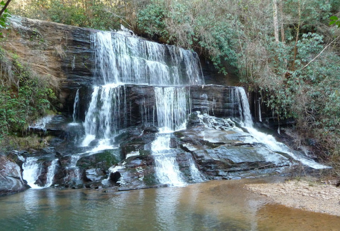 10. This Falls Creek waterfall is about one-quarter mile upstream from where Falls Creek spills into the Chattooga.