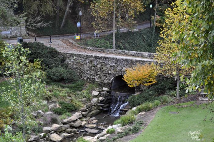 Falls Park on the Reedy Stone Bridge - Greenville, SC