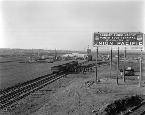 """13. """"Denargo Market railroad tracks."""" (1937)"""
