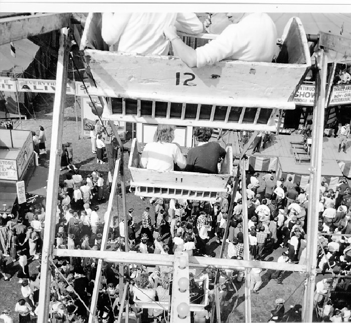 16. This photo was taken from the top of the ferris wheel at the South Carolina State Fair in Columbia in 1956.