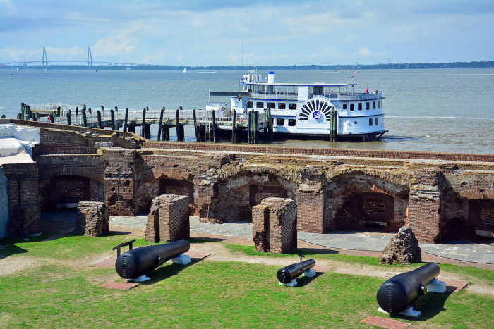 2. You've taken the ferry out to Ft. Sumter National Monument to tour where the Civil War began.
