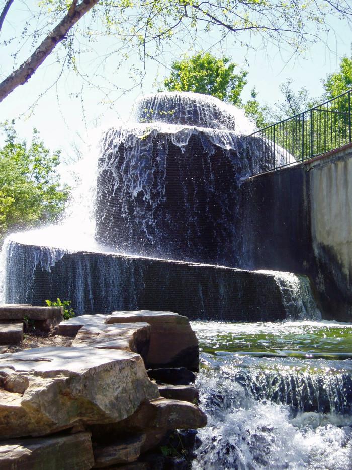 Fountain and Cascade - Finlay Park - Columbia, SC