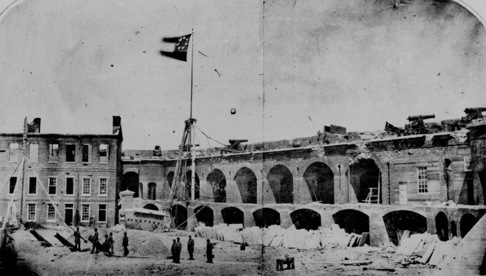 4. Fort Sumter - shown here on April 14, 1861 under the Confederate flag.