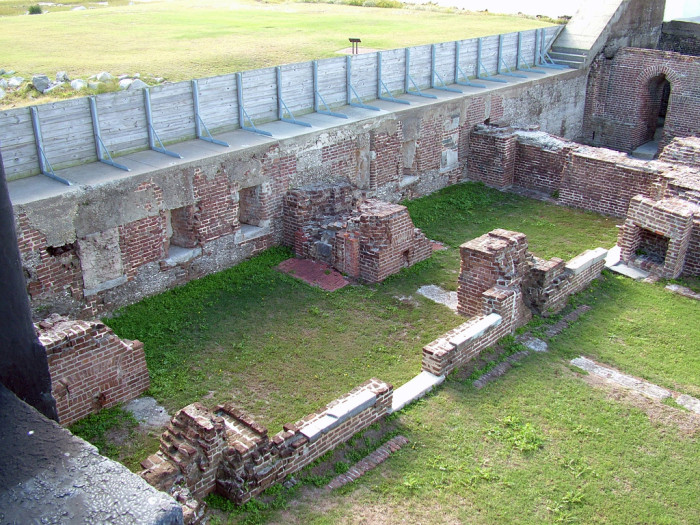 11. This is all that remains of the Officer's quarters at Fort Sumter in Charleston, SC.