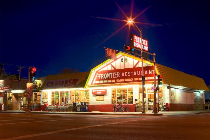 1. Frontier Restaurant, 2400 Central Ave SE, Albuquerque, NM 87106