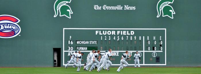 6. A Greenville Drive baseball game - Greenville, SC
