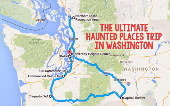 Haunted Places Road Trip In Washington