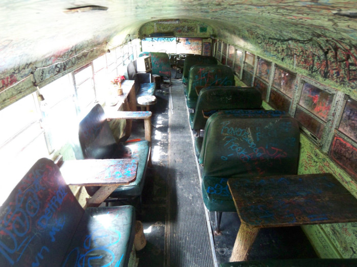 Its bus and shack seating draws a lot of attention. It's definitely one of the state's most interesting settings.