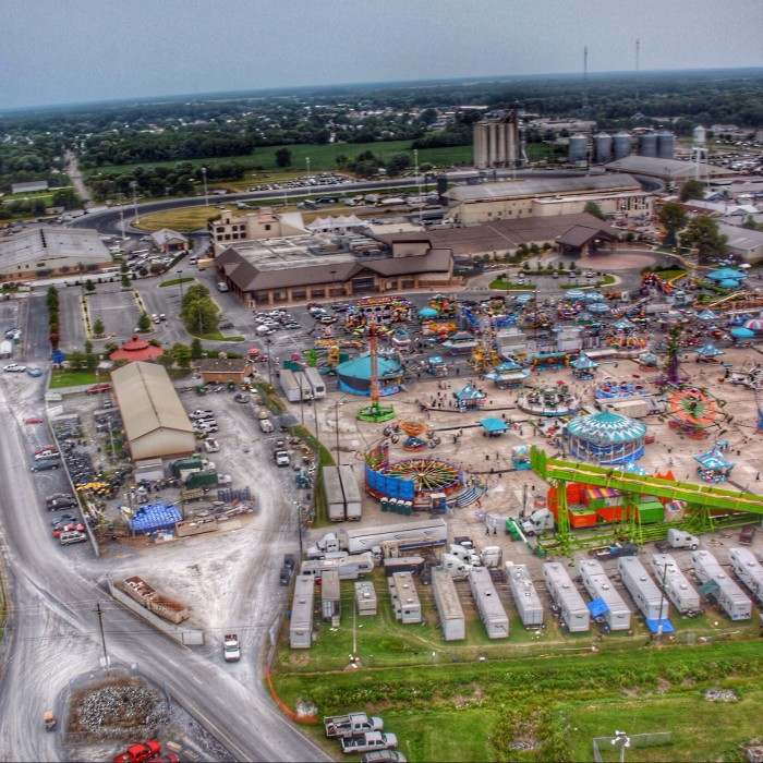 8. The Delaware State Fair in Harrington from aboard a helicopter ride