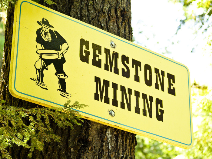 Spend a day with your hands full of gems at Natural Stone Bridge and Caves Park!