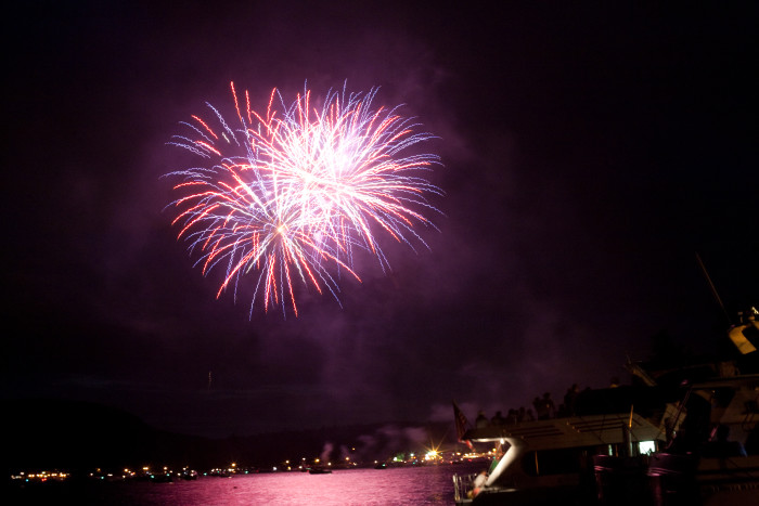 Enjoy fireworks over the lake every Thursday night during July and August!