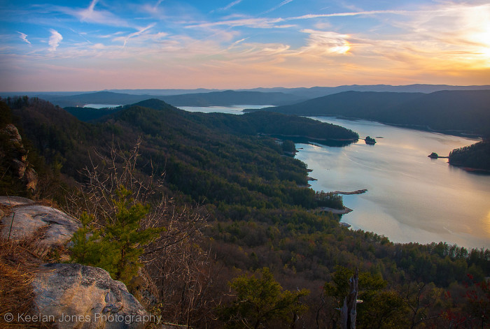 12. The view of Lake Jocassee from Jumping Off Rock.