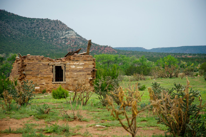 15. The remaining buildings in the ranching community of La Liendre appear to be crumbling back to dirt.