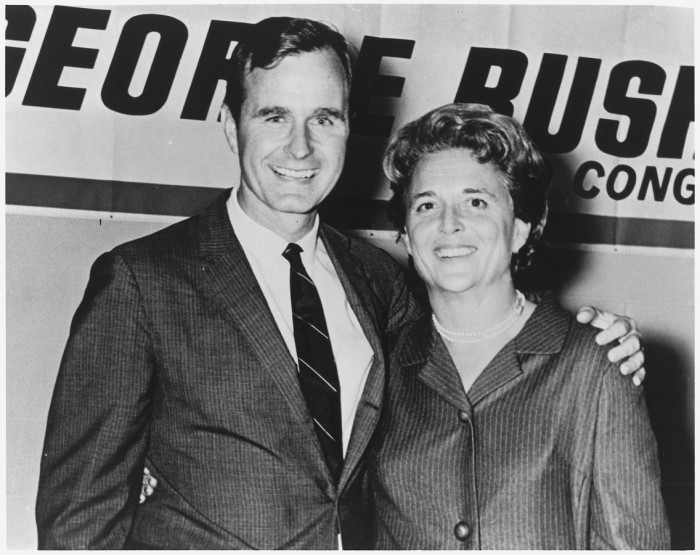 9. George and Barbara Bush were elated on the night he was elected to Congress in 1966.