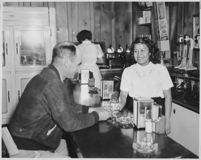 6. A server at Brown's Cafe in Albuquerque.