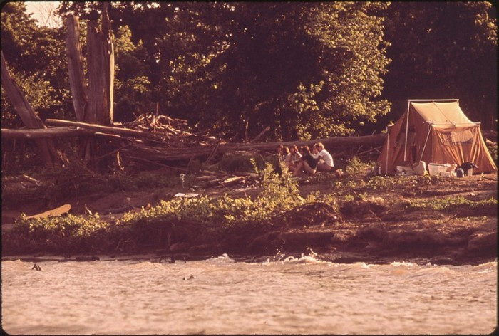11. Camping along the Ohio River
