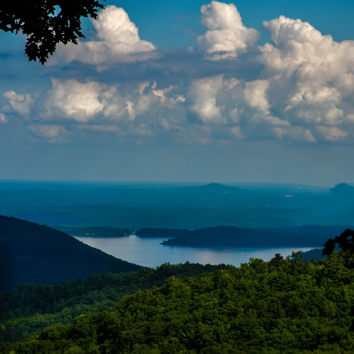 1. Man-made Lake Jocassee was created when an incoming hydroelecteric facility aimed to flood several rivers.