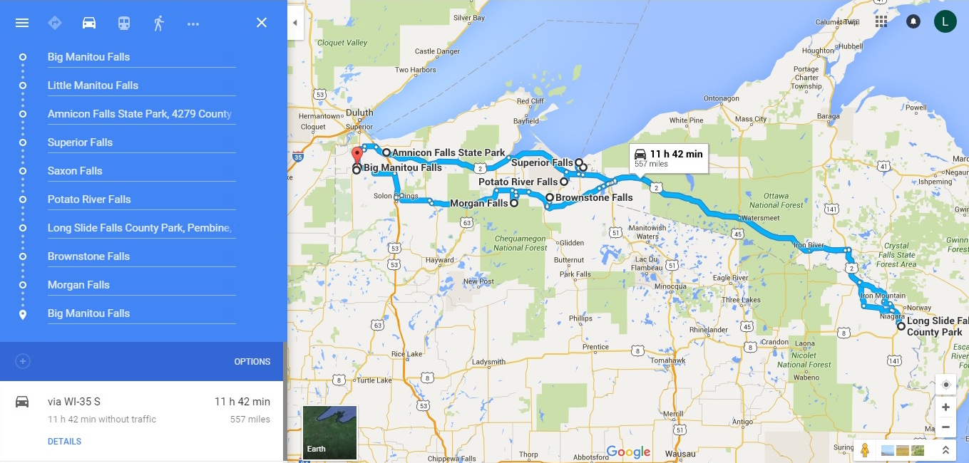 Wisconsin Waterfalls Road Trip – Wisconsin Travel Map