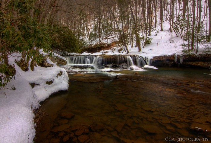 13. This is Marsh Fork Falls at Camp Creek State Park.