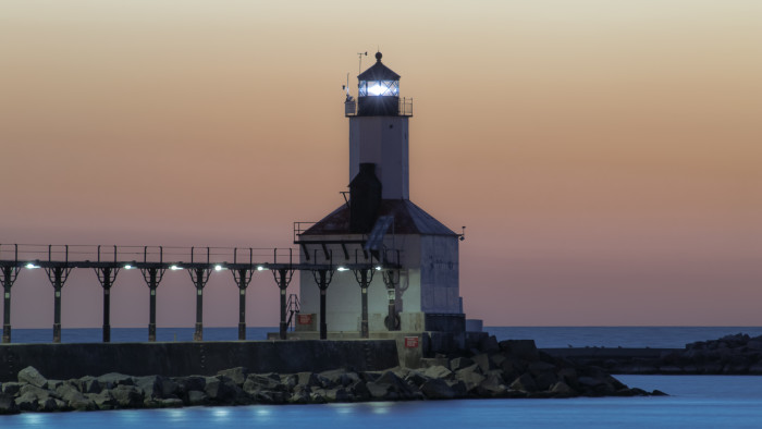 Stay in nearby Michigan City and check out attractions such as local parks and the Michigan City lighthouse.