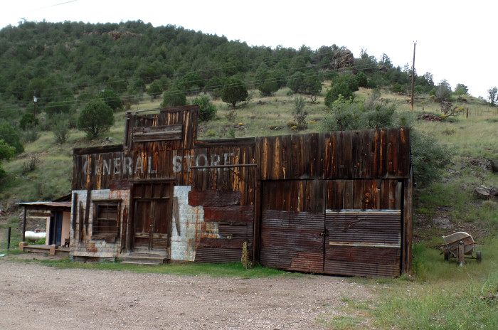 """10. This general store in Mogollon has a secret. It's not really that old! It was actually part of the set for a 1973 movie called """"My Name Is Nobody."""""""