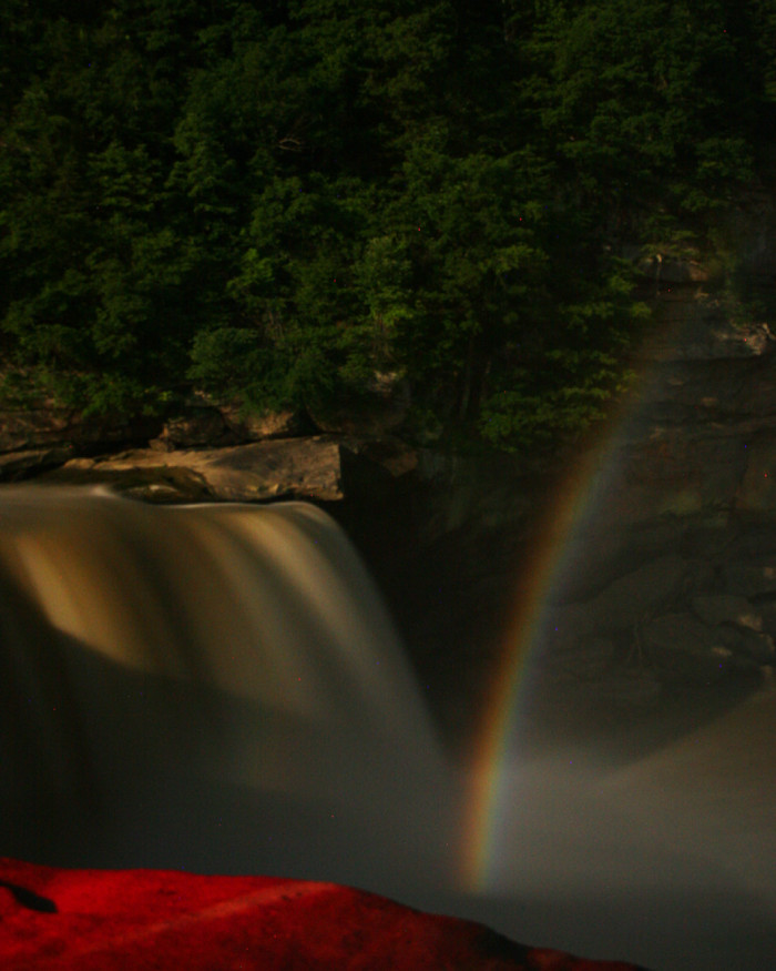 This serene waterfall is also the home of the renowned moonbow.