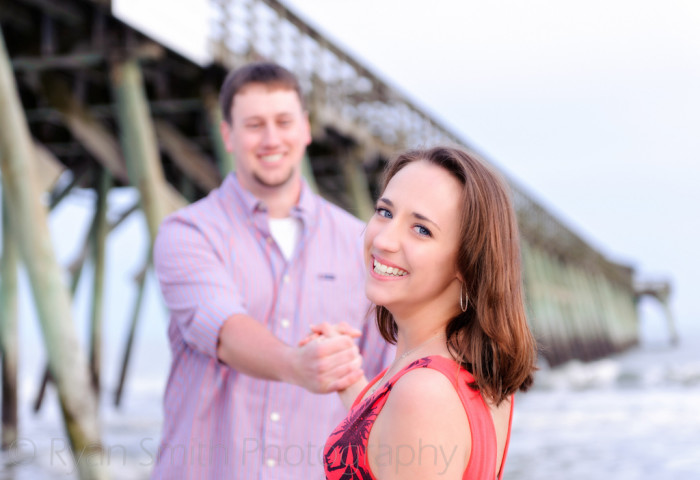 In Myrtle Beach, the pier at the state park can be very romantic.