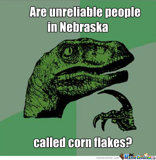This is a corny joke, but a good question nonetheless.