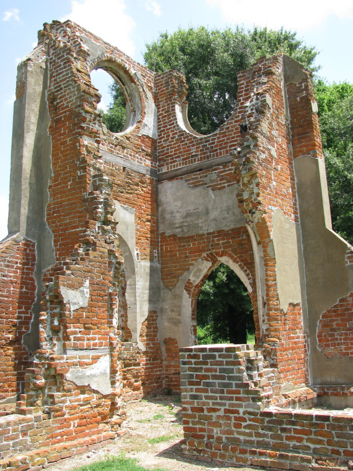 6. St. John's Episcopal Church was built in Glen Allan around 1830, making it one of the first churches in the Delta. During the Civil War, the church's stained glass windows were removed and used to make ammunition, marking the beginning of the church's demise. St. John's was further damaged when a tornado hit the area in 1907. Today, the ruins of the church are one of the most photographed historic sites in the state.