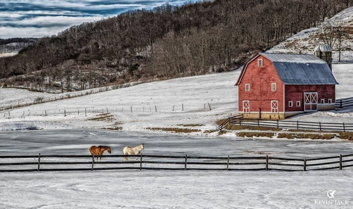 14. This gorgeous shot of a farm in Pocahontas County.