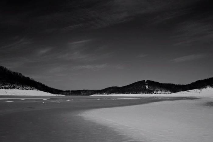5. Justyn Miller took this shot of a frozen Tygart Lake.