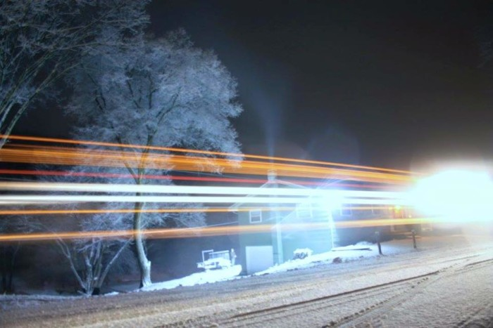 4. This was taken during a snowfall in Shinnston.