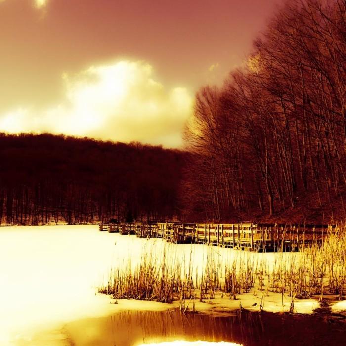 12. Rhonda Wileman took this gorgeous shot of a frozen Summit Lake.