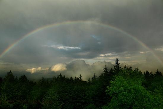 9. This beautiful rainbow shot at Spruce Knob.