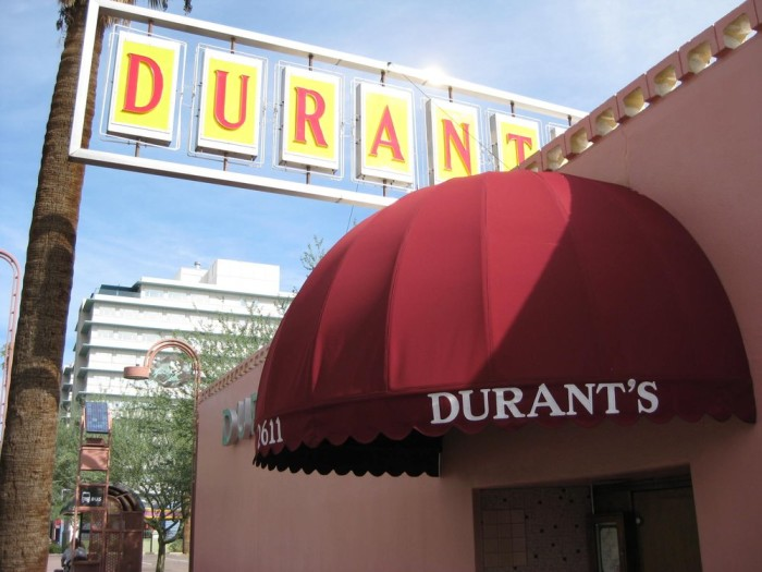 14. Enjoy a meal at the historic Durant's in central Phoenix.