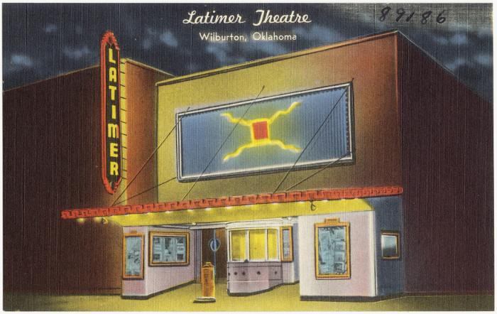 "10. ""Latimer Theatre, Wilburton, Oklahoma."""