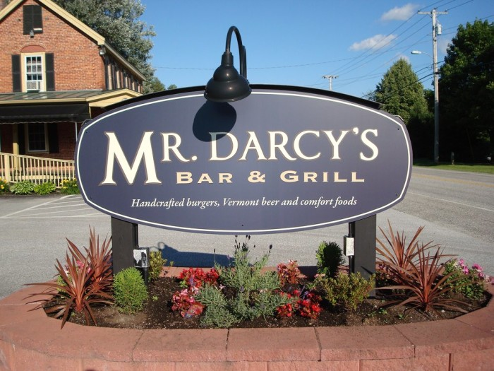 18.  Mr. Darcy's Bar & Grill - 31 Rt 103 S, Ludlow
