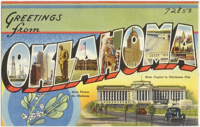 "11. ""Greetings from Oklahoma."""