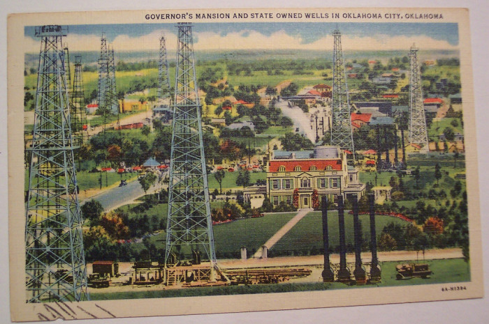 """17. """"Governor's Mansion and State Owned Wells, Oklahoma City."""""""
