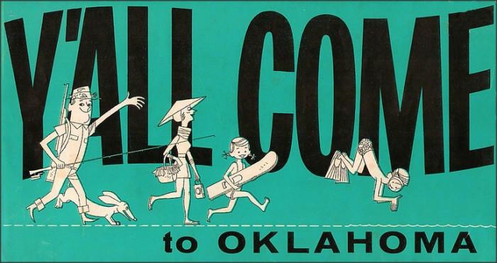 "4. ""Oklahoma travel brochure cover."""